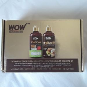 WOW Skin Science shampoo and conditioner hair care